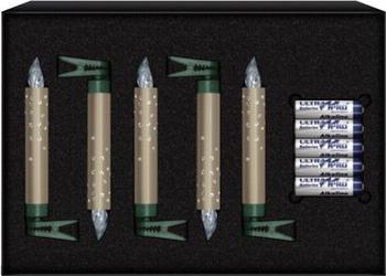 Krinner Lumix Crystal Erweiterungs-Set 5er champagner (74275)