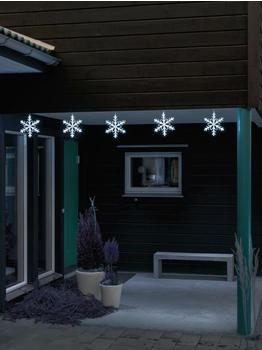 Konstsmide LED Schneeflocken-Kette 5er kaltweiß (4439-203)