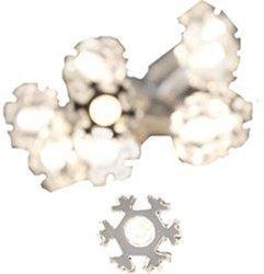 Konstsmide LED Dekolichterkette, 10 transparente Schneeflocken