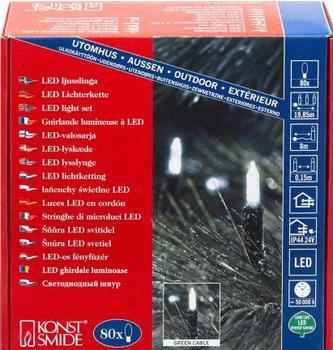 Konstsmide LED Mini-Lichterkette kaltweiß 80er (6020-200)