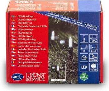 Konstsmide LED Mini-Lichterkette Kaltweiß 40er (6004-200)