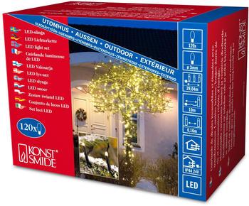 Konstsmide Micro LED Lichterkette warmweiß (3612-110)