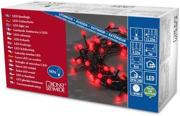 Konstsmide LED-Lichterkette 80er 5m rot (3691-557)