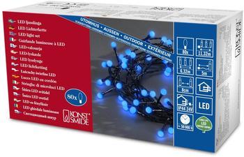 Konstsmide LED-Lichterkette 80er 5m blau (3691-407)