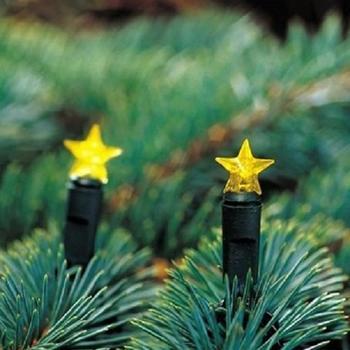 Konstsmide LED-Sternenlichterkette Batteriebetrieb 20er gelb (1093-000)