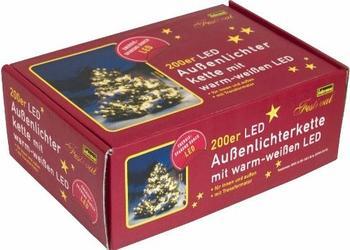 Idena LED-Außenlichterkette Warmweiß 200er (8325066)