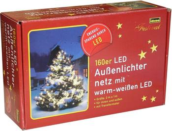 Idena LED-Lichternetz 160er Außenbereich Warmweiß (8325069)