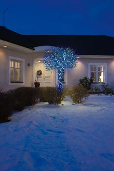 Konstsmide Micro-LED-Lichterkette 40er schwarz blau (3610-400)