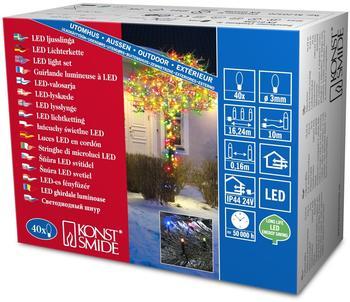 Konstsmide Micro-LED-Lichterkette 40er schwarz bunt (3610-500)