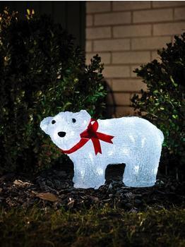 Konstsmide LED-Leuchtfigur Eisbär stehend 40er Acryl (6124-203)