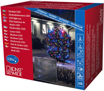 Konstsmide LED-Lichternetz 120er bunt (3751-500)