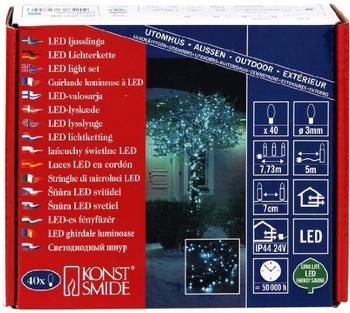 Konstsmide Micro LED Lichterkette 40 hellblau (3627-440)