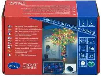 Konstsmide Micro-LED-Lichterkette 80er blau (3630-500)