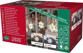 Konstsmide LED-Lichtervorhang Schneeflocken weiß (4436-203)