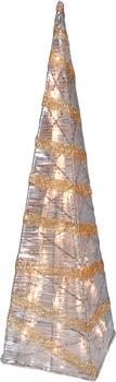 Näve Weihnachtspyramide 59cm gold-klar (345545)