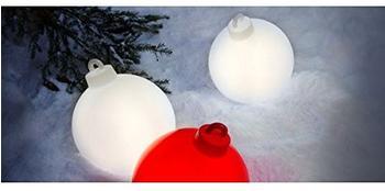 8 seasons Shining Christmas Ball weiß (32374)