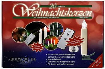 Jucon LED-Weihnachtskerzen kabellose 20er-Set