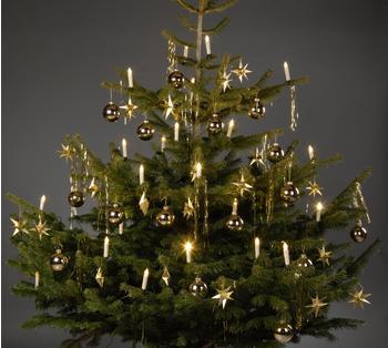 Trango Brilon 24 LED Weihnachtskerzen Innenbereich Stecksystem warm-weiß
