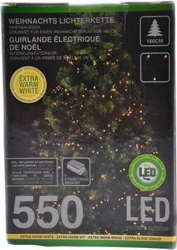 Koopman Lichterkette Timer 550 LEDs warmweiß