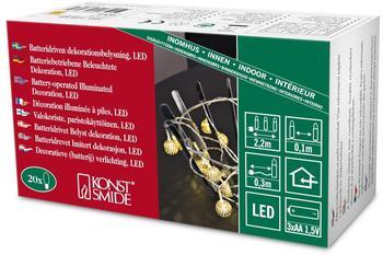 Konstsmide LED Dekolichterkette Drahtkugeln (3158-803)