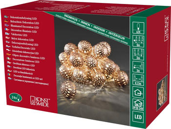 Konstsmide LED Dekolichterkette bronze Metallbälle (3156-603)
