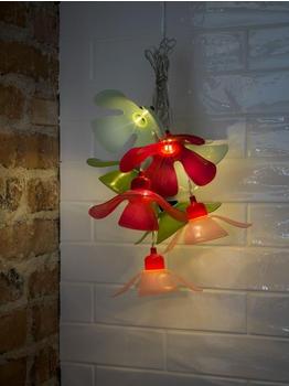 Konstsmide LED Dekolichterkette bunte Blumen (1478-503)