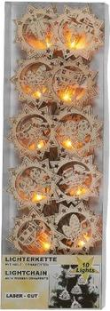 Idena Lichterkette mit Holzornamenten (8582297)