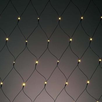 Hellum LED-Lichtnetz umschaltbar LED Farbe multicolor oder warmweiß (577044)