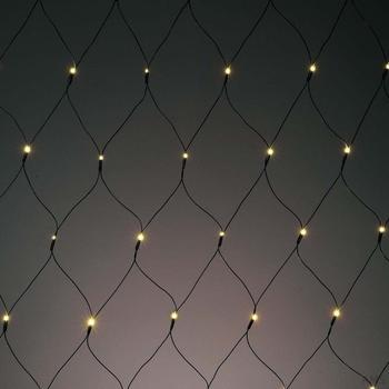 Hellum LED-Lichtnetz umschaltbar LED Farbe multicolor oder warmweiß (577051)