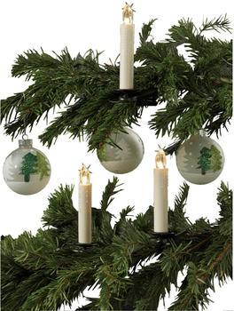 Hellum LED-Weihnachtsbaumkerzen kabellos 5er Erweiterungs-Set