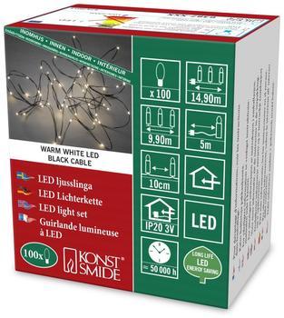 Konstsmide LED Tropfenlametta 100er warmweiß (6387-100)