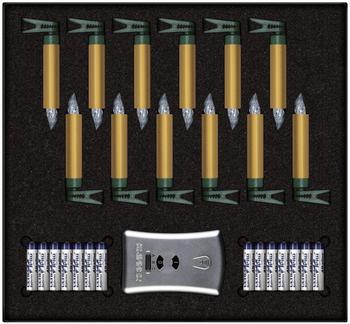 Krinner Premium Mini Kabellose LED Kerzenlichterkette (KR75443)
