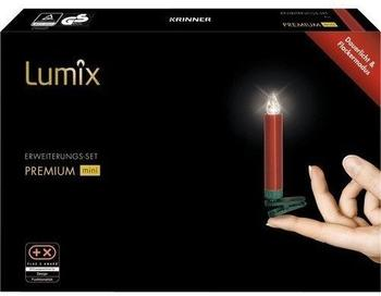 Krinner Premium Mini Christbaumkerzen Erweiterungs-Set 6er rot (75456)
