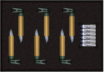 Krinner Premium Mini Christbaumkerzen Erweiterungs-Set 6er gold (75453)