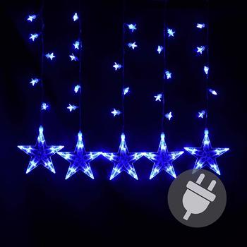 Dilego LED-Sternenlichterkette blau 100er