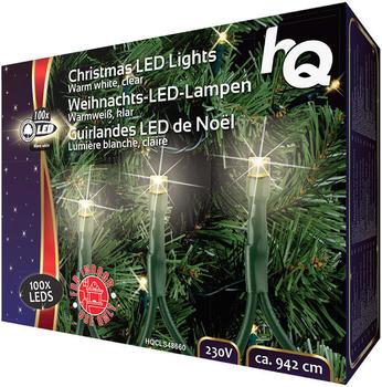 HQ Christmas LED Lights Warm white, clear 100 pcs.