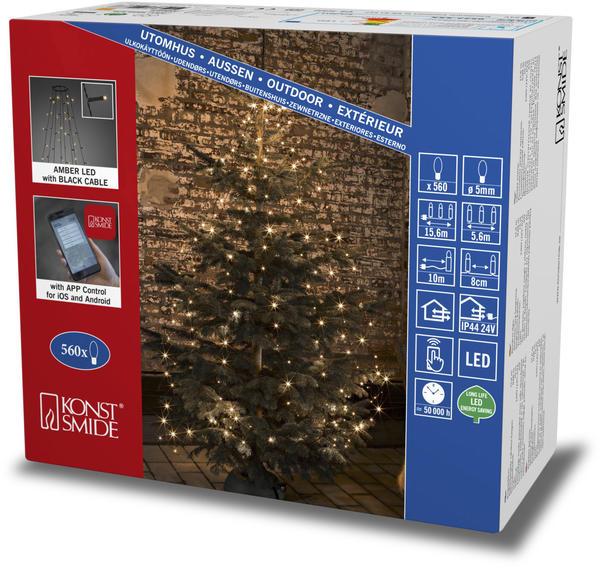 Konstsmide LED Baummantel APP gesteuert bernstein/schwarz (6520-870)