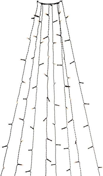 Konstsmide LED Baummantel mit Ring bernstein/schwarz (6322-810)