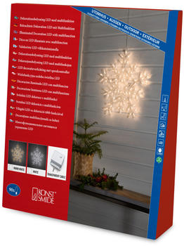 Konstsmide LED Acryl Schneeflocke warmweiß/klar (4470-103)