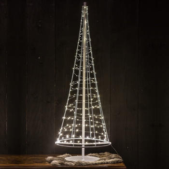 Christmas United LED Mini-Weihnachtsbaum 250 LEDs 100cm Outdoor Weiß/Warmweiß