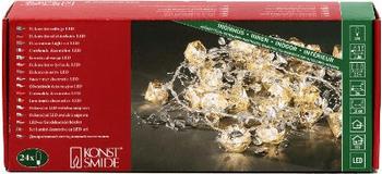 Konstsmide Diamantmotiv-Lichterkette silber (3173-303)