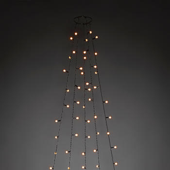 Konstsmide LED Baummantel Globes bernstein (6367-820)