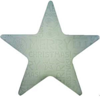 8 seasons Shining Star Merry Christmas LED 60cm weiß (32493L)