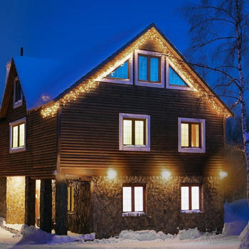 Blumfeldt Dreamhouse Flash Eiszapfen-Lichterkette 320LEDs 16m warmweiß