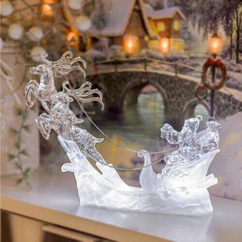 Art Decor LED Weihnachtsmann, Rentier, Kutsche (AD-600)