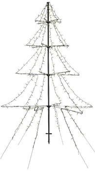 Kaemingk LED-Baum Cluster Erdspieß 3-stufig 1200-flg 200 cm (493444)