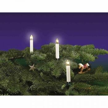 Rotpfeil Weihnachtsbaumkette 15-teilig E10 klar elfenbein (969150500)