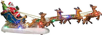 Konstsmide LED-Szenerie Weihnachtsmann mit Schlitten (4205-000)