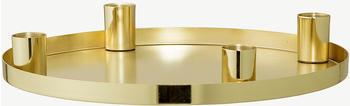 Bloomingville Adventskerzenhalter rund 25x3.5cm gold (27228097)