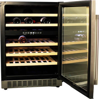 Hanseatic Weinkühlschrank, mit 129 Litern Nutzinhalt, unterbaufähig schwarz